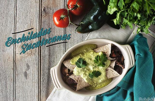 Enchiladas Zacatecanas from GirlCarnivore.com