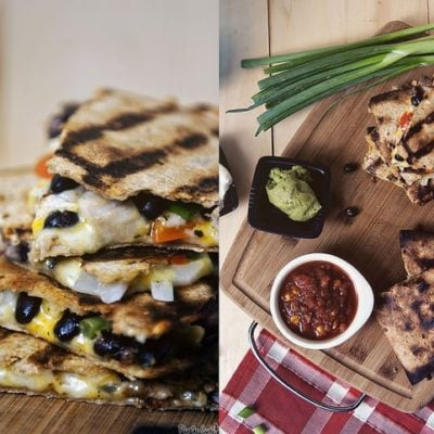 Grilled Chicken Quesadillas via GirlCarnivore.com