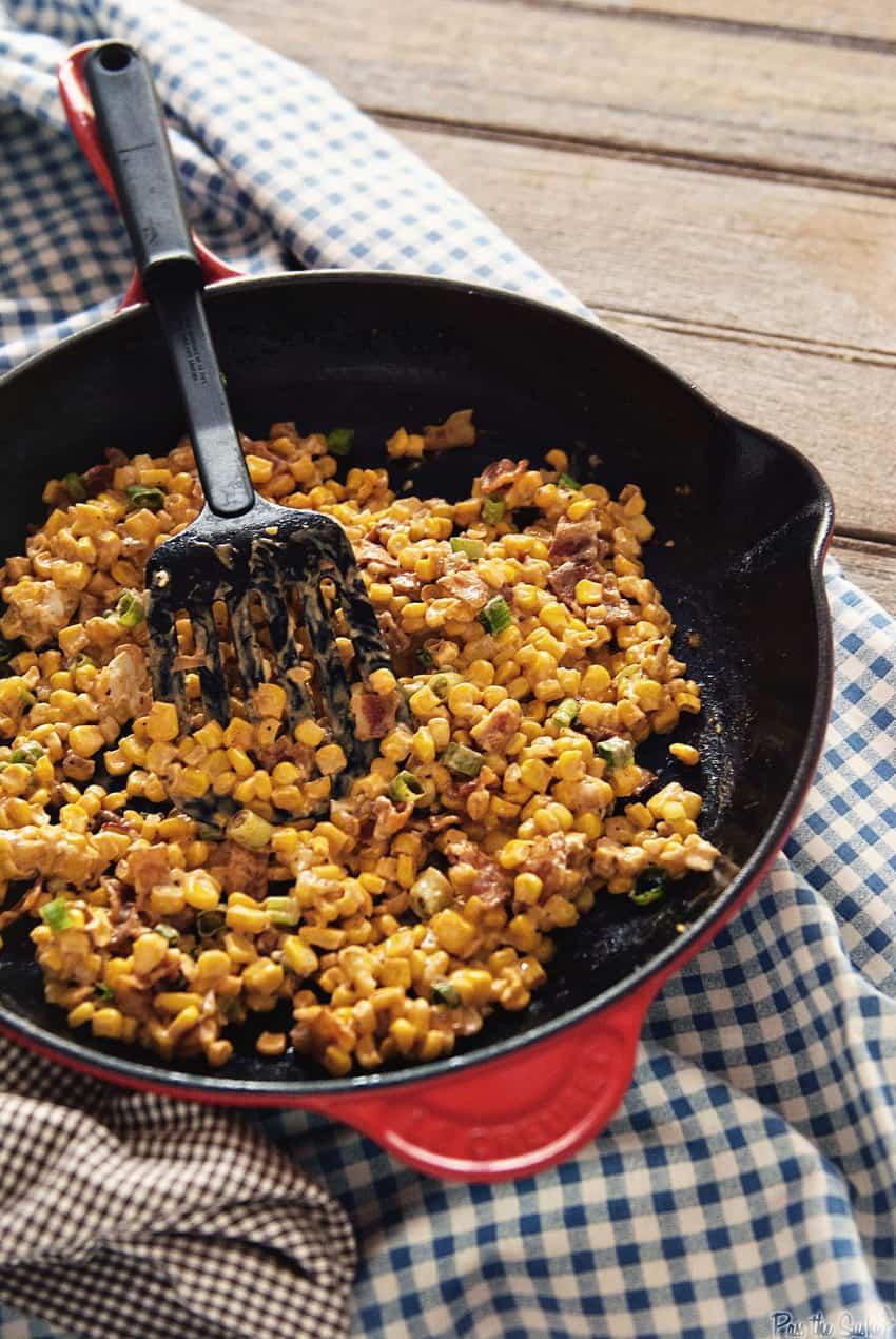 Creamy Skillet Corn | Kita Roberts GirlCarnivore.com