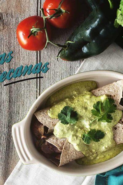 Enchiladas Zacatecanas | Kita Roberts GirlCarnivore.com