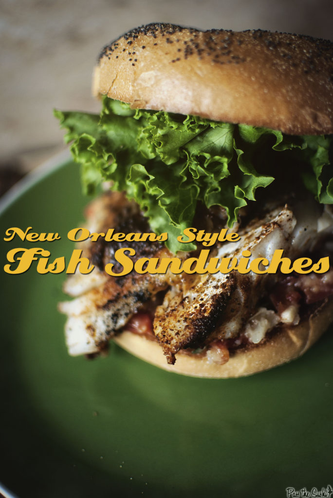 New Orleans Style Fish Sandwiches | Kita Roberts GirlCarnivore.com