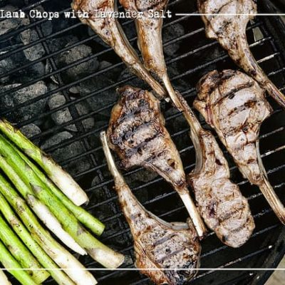 Grilled Lamb Chops with Lavender Salt