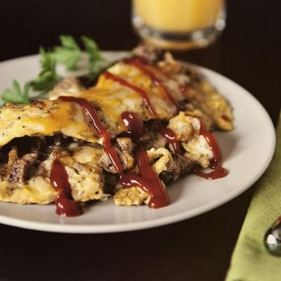 Cheeseburger Omelet via GirlCarnivore.com