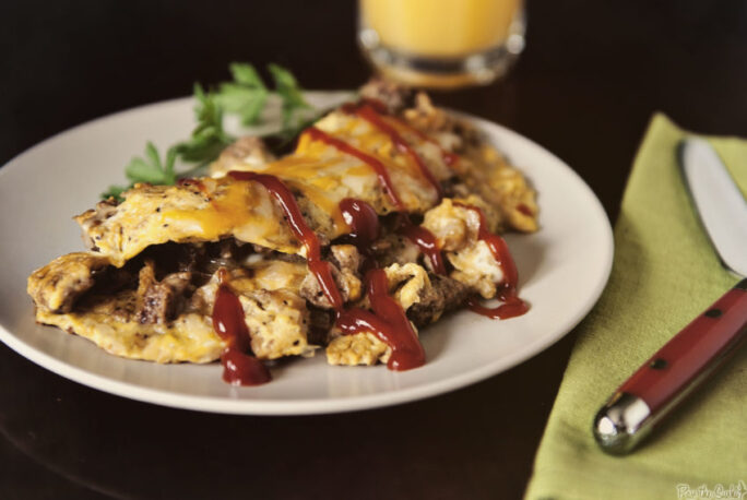 Cheeseburger Omelet | Kita Roberts GirlCarnivore.com