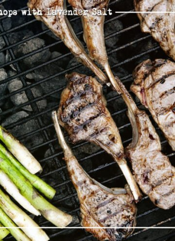 Grilled Lamb Chops with Lavender Salt | Kita Roberts GirlCarnivore.com