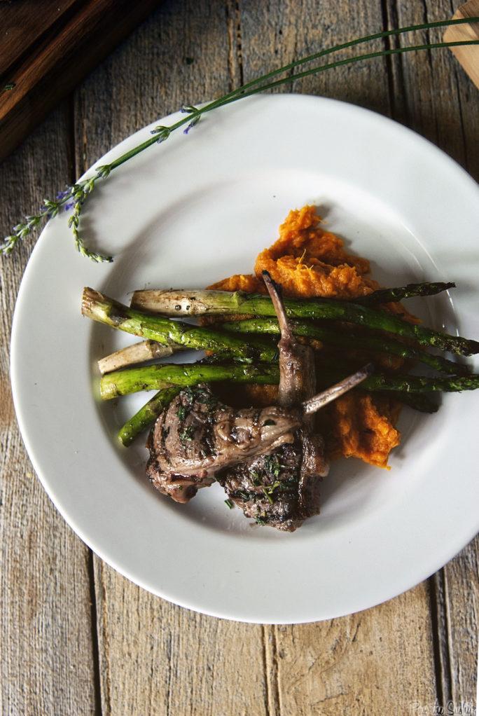 Grilled Lamb Chops with Lavender Salt   Kita Roberts GirlCarnivore.com