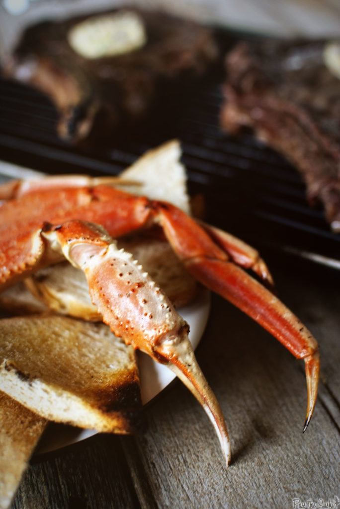 Grilled Rib Eyes & Snow Crab | Kita Roberts GirlCarnivore.com