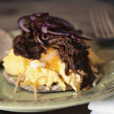 BBQ Brisket Egg Sandwich