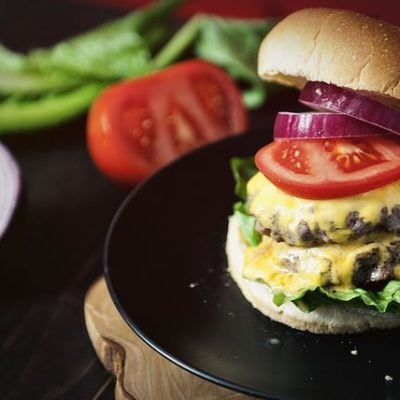 Weeknight Garlic Chipotle Double Down Burger