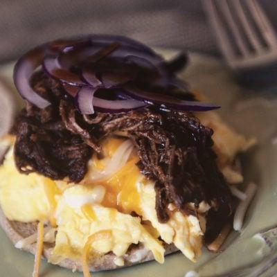 BBQ Brisket Egg Sandwich | Kita Roberts GirlCarnivore.com