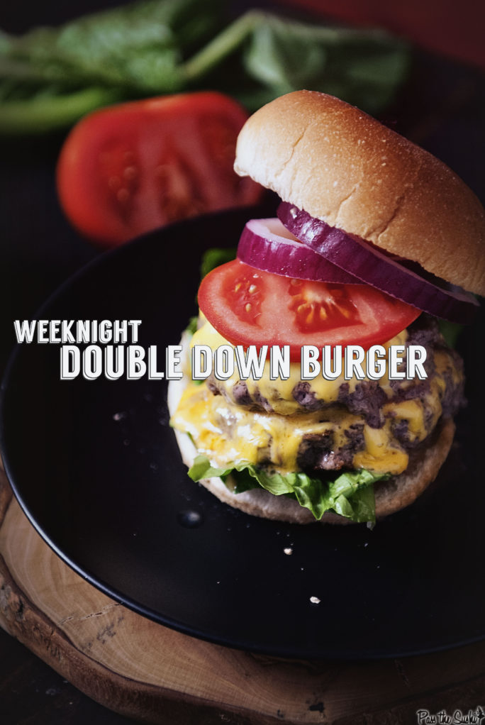 Garlic Chipotle Double Down Burger | Kita Roberts GirlCarnivore.com