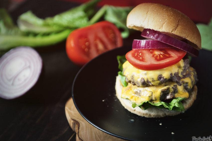 Weeknight Garlic Chipotle Double Down Burger - girl carnivore