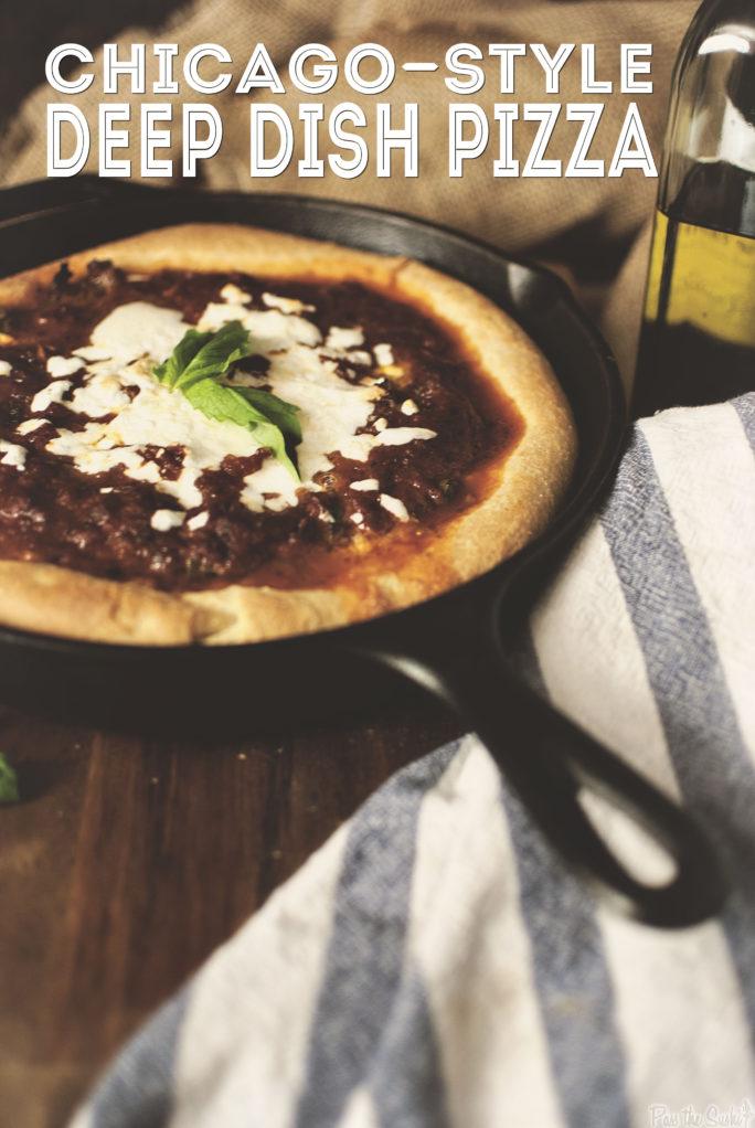 Chicago-Style Deep Dish Pizza | Kita Roberts GirlCarnivore.com