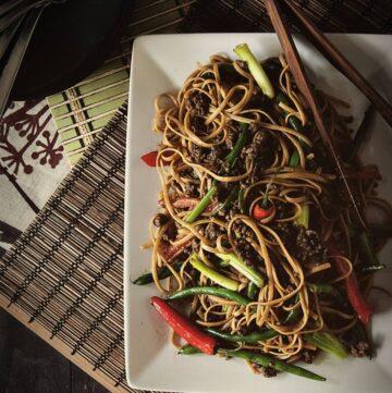 Spicy Szechuan Beef Noodle Recipe on GirlCarnivore.com