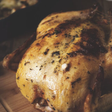Mayo and Herb Roasted Chicken with Giblet Gravy | Kita Roberts GirlCarnivore.com