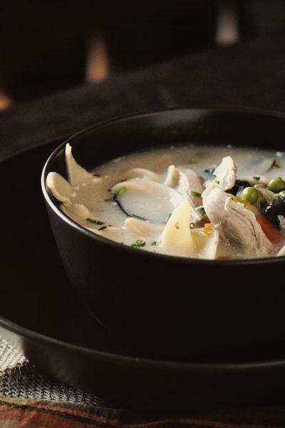 Slow Cooker Creamy Chicken Noodle Soup | Kita Roberts GirlCarnivore.com