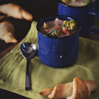 Slow Cooker Ham Chowder | Kita Roberts GirlCarnivore.com