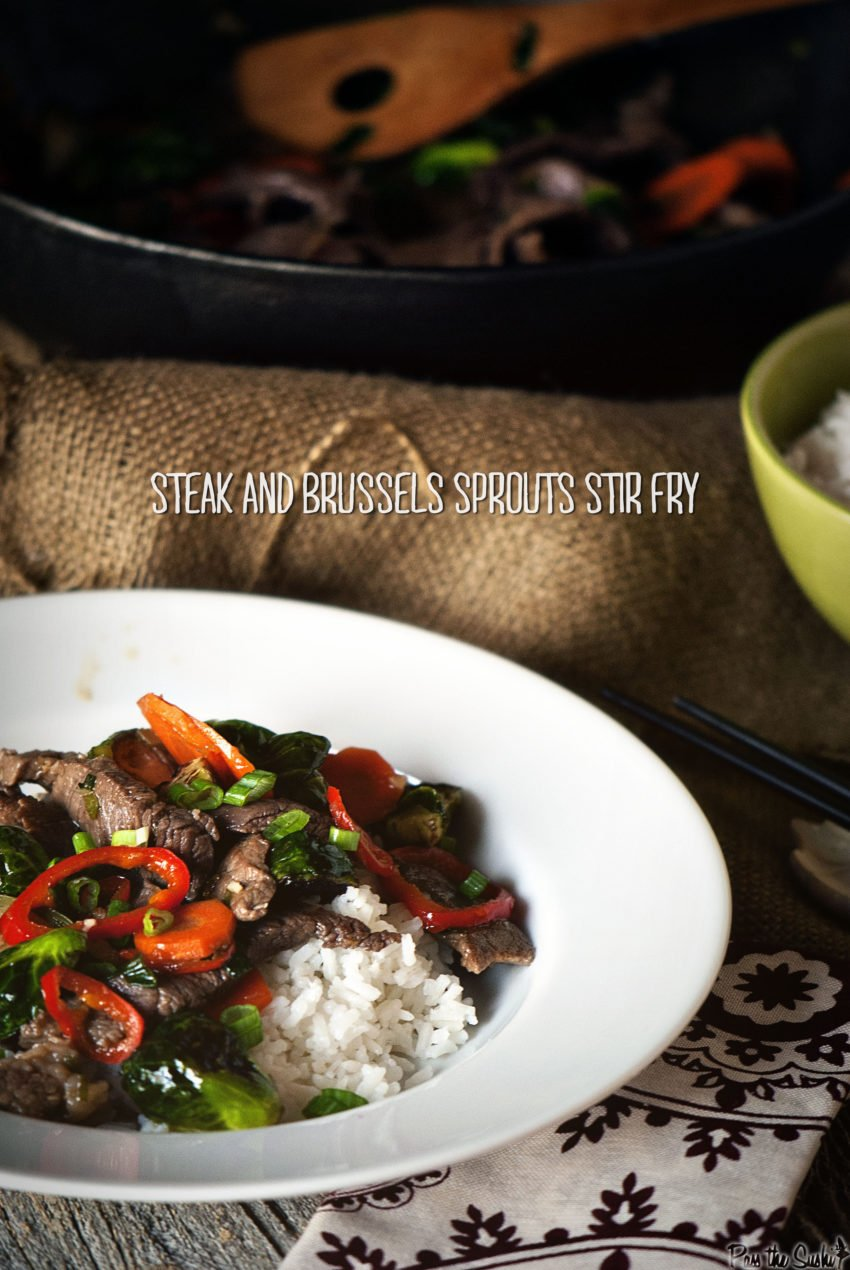 Steak and Brussels Sprouts Stir Fry | Kita Roberts GirlCarnivore.com