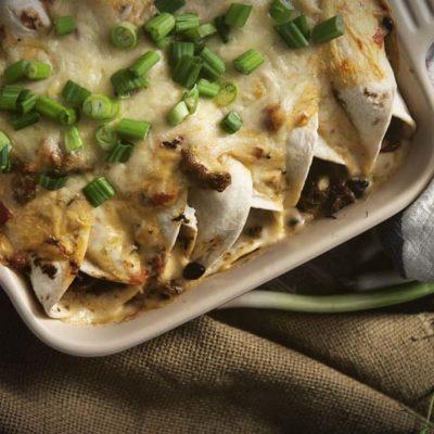 Cajun Seafood Enchiladas