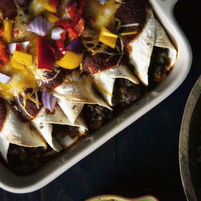 Make Ahead Ground Beef Enchiladas