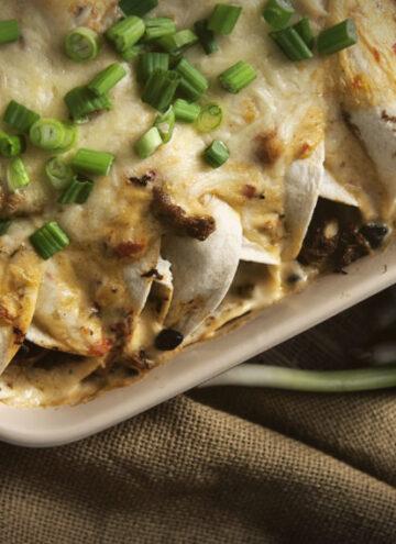 Cajun Seafood Enchiladas | Kita Roberts GirlCarnivore.com