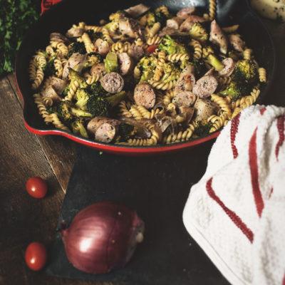 Oven Roasted Sausage Skillet With Vegetables | Kita Roberts GirlCarnivore.com