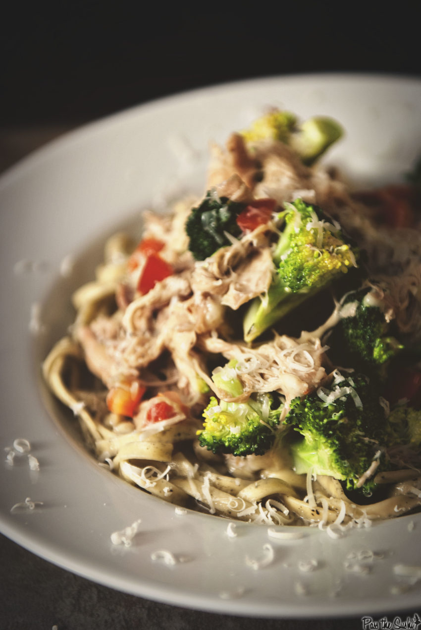 Slow Cooker Chicken and Broccoli Sauce | Kita Roberts GirlCarnivore.com