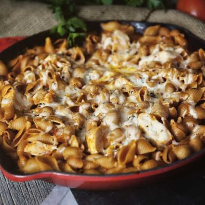 Weeknight Skillet Chicken Parmesan Pasta