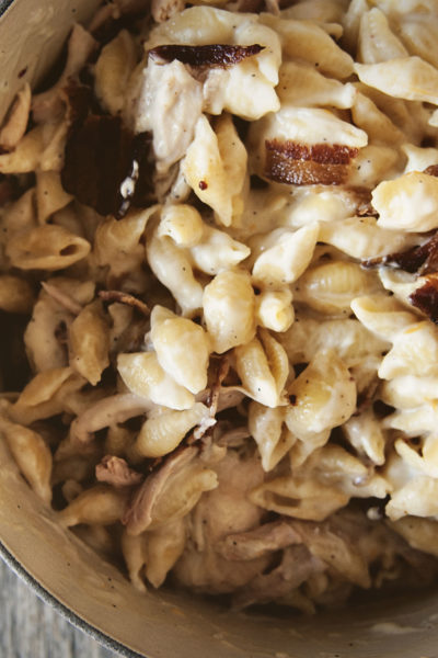 Double Smoked Chicken Mac and Cheese | Kita Roberts GirlCarnivore.com