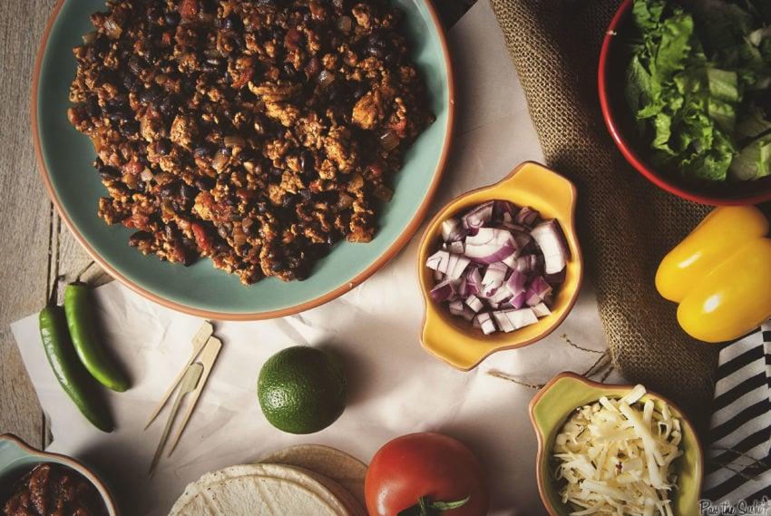 Slow Cooker Turkey Tacos | Kita Roberts GirlCarnivore.com