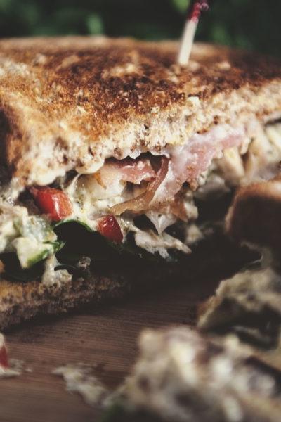 Pesto Chicken Salad for Two | Kita Roberts GirlCarnivore.com