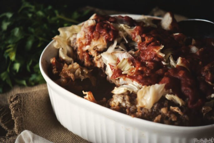 Slow Cooker Stuffed Cabbage | Kita Roberts GirlCarnivore.com