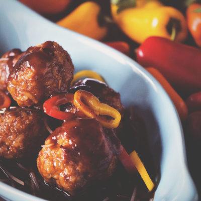 BBQ Chorizo Meatballs   Kita Roberts GirlCarnivore.com