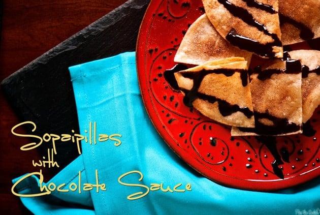 Quick Sopaipillas with Chocolate Sauce