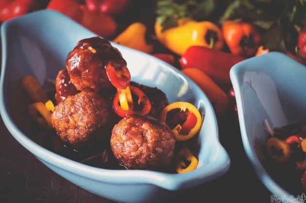 BBQ Chorizo Meatballs