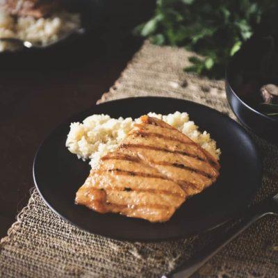 Grilled Salmon with Brown Sugar Mustard Glaze