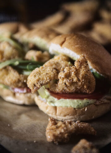 Fried Catfish Po'boys with Spicy Remoulade Sauce | Kita Roberts GirlCarnivore.com
