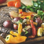 Grilled Steak and Peppers | Kita Roberts GirlCarnivore.com