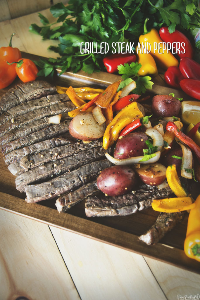 Grilled Steak and Peppers | Kita Roberts GirlCarnivore.com