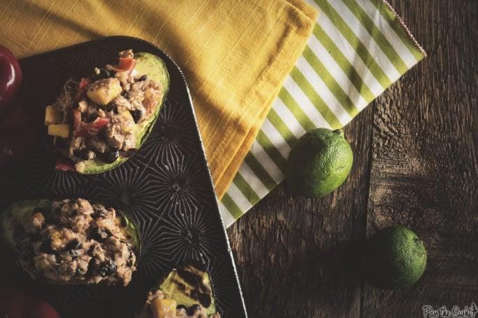 Mexican Tuna Salad Stuffed Avocados | Kita Roberts GirlCarnivore.com