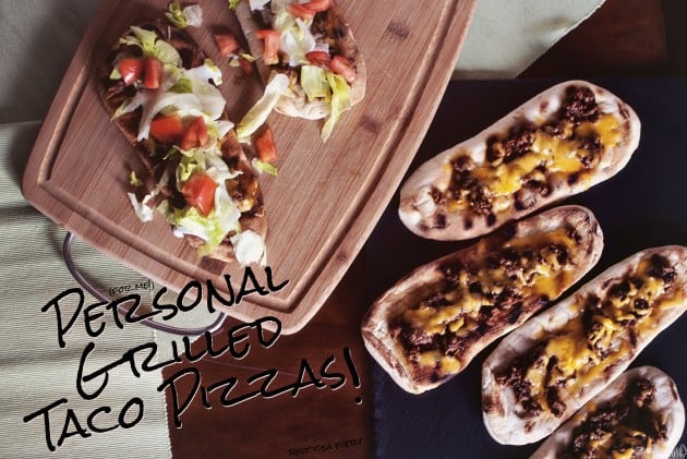 Personal Grilled Taco Pizzas