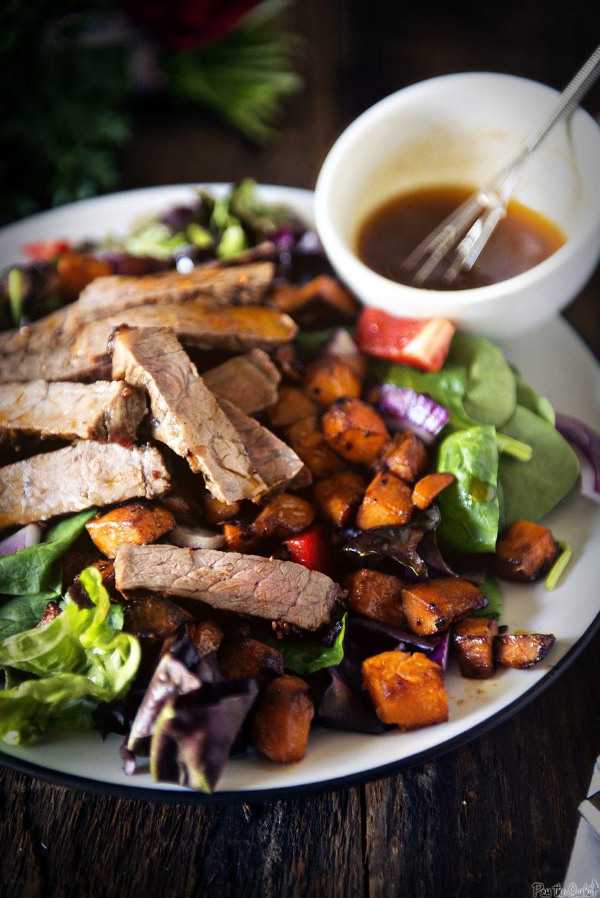 Grilled New York Strip and Sweet Potato Salad | Kita Roberts GirlCarnivore