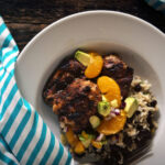 Jerk Chicken with Avocado-Orange Salsa | Kita Roberts GirlCarnivore.com