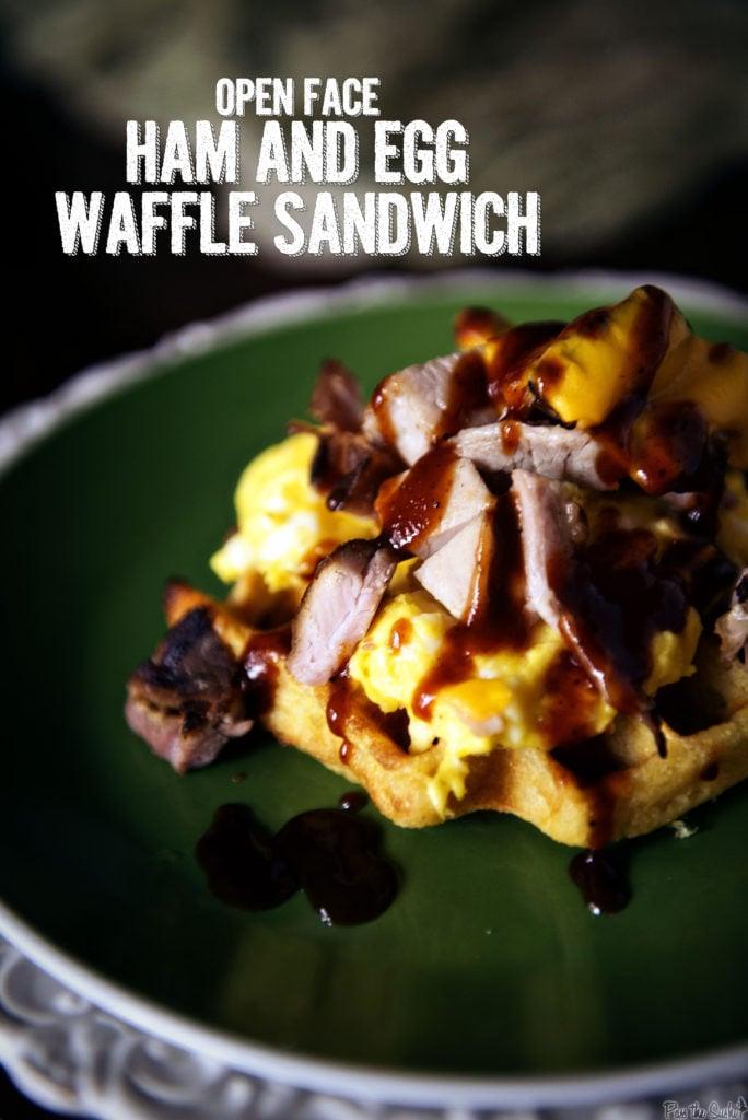 Open Face Ham and Egg Waffle Sandwich   Kita Roberts GirlCarnivore.com