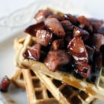 Waffles with Kielbasa
