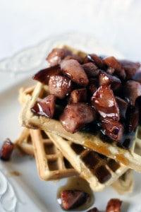 Waffles with Kielbasa