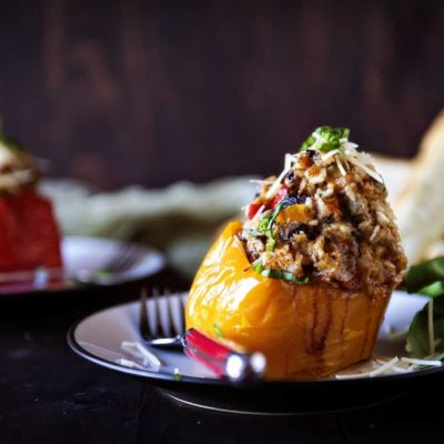 Slow Cooker Italian Stuffed Peppers