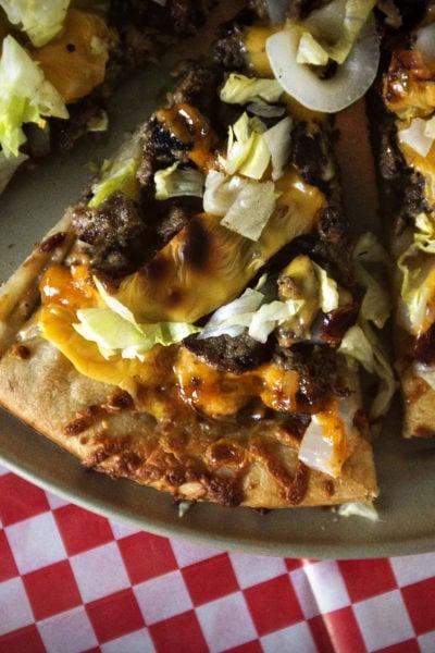 Cheeseburger Pizza Recipe | Kita Roberts GirlCarnivore.com