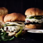 Philly Cheesesteak Burger Recipe with Roasted Garlic Aioli | Kita Roberts GirlCarnivore.com