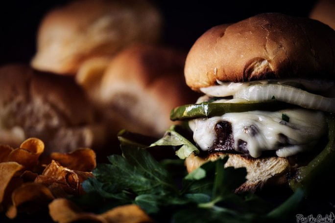 Just look at this Philly Cheesesteak Burger. Straight from Philly to your mouth!
